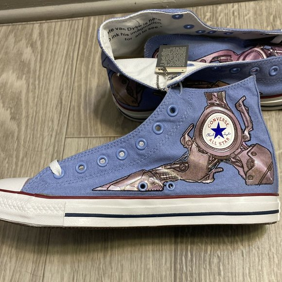 Converse All Star Nate Van Dyke Robot Foot Print Special Edition Men's Size 10.5
